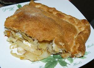 пирог на слоеном тесте с пангасиусом