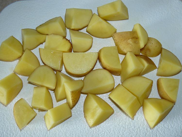 резаный картофель