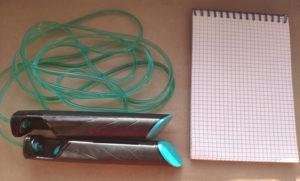скакалка и записная книжка