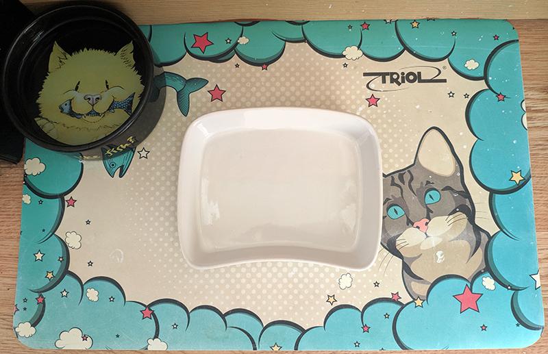 место кота для еды